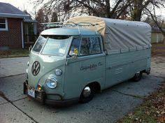 van pick up Volkswagen Transporter, Volkswagen Bus, Beetles Volkswagen, Vw T1 Camper, T1 Bus, Campers, Kombi Pick Up, Vans Vw, Combi Split