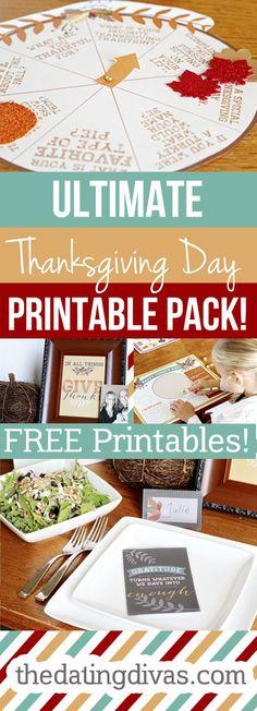 Thanksgiving Day Printable Pack (via Bloglovin.com )