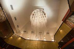Crystal spiral lighting Spirals, Crystal Pendant, Chandelier, Ceiling Lights, Lighting, Crystals, Stone, Modern, Projects