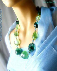 Бусы из натуральных камней. Ювелирное украшение. Колье ожерелье. - купить бусы