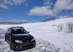 First Wagon Wednesday in the snow with my new (to me) WRX #subaru #wrx #sti #impreza #forester #subie