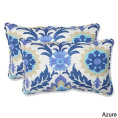 $45 / pr. in mimosa color on overstock - Pillow Perfect Santa Maria Rectangular Outdoor Throw Pillows (Set of 2)   Overstock.com Shopping - The Best Deals on Outdoor Cushions & Pillows