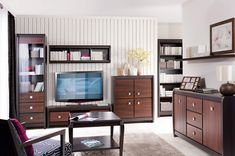 Furniture Collection Loren impresses with timeless styling and gives unlimited possibilities of arrangement. Living Room Sets, Furniture Collection, Bookcase, Shelves, Dining, House, Shopping, Home Decor, Create