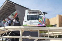 ModuTram test track at Convention Center WTC-Morelos for  Green Solutions 2013