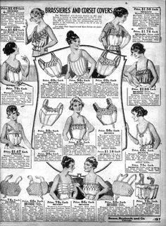 Ladies Antique Lingerie Advertising, 1920's