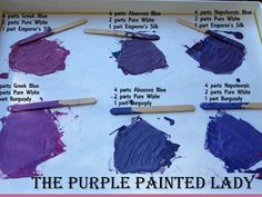 The Purple Painted Lady Chalk - custom purple recipes.  Visit our website where we sell Chalk Paint® for $34.95 and ship same day!