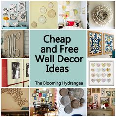 Cheap & Free Wall Decor Ideas Roundup. Idea: frame series of like Inge, like botanical art calendar pages.