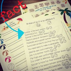 A speech and language FUN pack for summer! Articulation & language activities (and open ended) to make your summer sessions easy! Print AND GO!