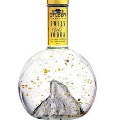 Real gold flakes in this vodka... Looks like a snow globe. Must be love! :)