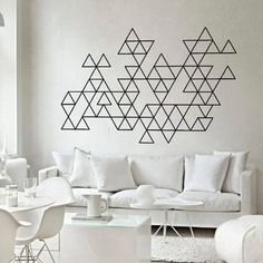 Geometric wall decal sticker abstract triangles - Thumbnail 1