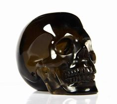 "Smokey Quartz Crystal Skull.  1.5"" 40 grams $75"