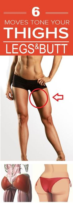 Target Three Common Trouble Zones, 6 Moves To Tone Your Butt, Thighs & Legs! - Right Way to Steel Health In Healthy Body Healthy Spirit Sport Fitness, Fitness Diet, Health Fitness, Fitness Motivation, Exercise Motivation, Mental Training, Circuit Training, Thigh Exercises, Thigh Workouts