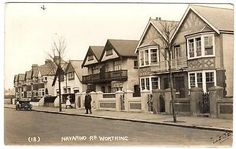 1926  WORTHING  Navarino Road SUSSEX  Photo Postcard