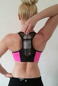 Items similar to Sexy White / Black Size Large Hydro-Pocket Sports Bra with a mess pocket to carry a water bottle pocket on the back while working out. on Etsy Running Workouts, Running Tips, Workout Gear, Just Run, Just For You, Running In The Heat, K Tape, Pink Sports Bra, Marathon Training