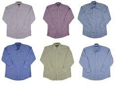 Kirkland Signature Men 80/2 Dress Shirt Non Iron Multiple Plaid / Solid NEW #KirklandSignature #DressShirt