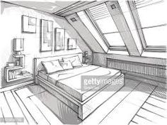 Home Decoration With Paper Craft Interior Architecture Drawing, Architecture Drawing Sketchbooks, Architecture Concept Drawings, Drawing Interior, Interior Design Sketches, Architecture Design, Portfolio Design, Room Perspective Drawing, Point Perspective
