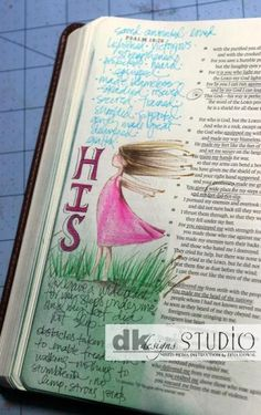 Just wanted to share a couple of pages from my Journaling Bible. You can read more about it and learn how to get started on my blog here: http://mamadinis.blogspot.com/2014/09/bible-journaling-getting-started.html