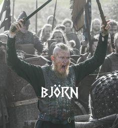 Bjorn van a képpen. Vikings Tv Show, Ragnar Vikings, King Ragnar Lothbrok, Vikings Tv Series, Lagertha, Valhalla Viking, Viking Warrior, Viking Woman, Travis Fimmel