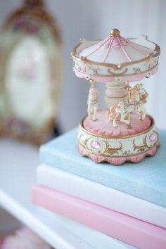 kitsch carousel pastel photo art for summer ♡