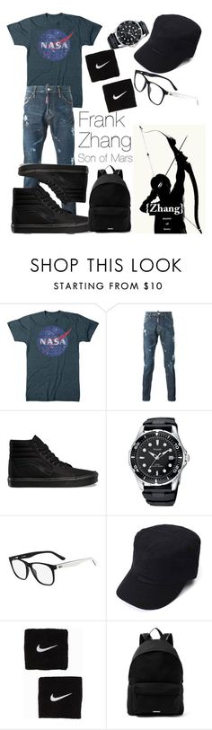 """Frank Zhang # 2 - Heroes Of Olympus"" by themarveldemigod ❤ liked on Polyvore featuring Vans, Lacoste, NIKE and Givenchy"