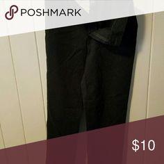 Black pants Black work type slacks Pants Wide Leg