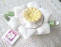 SALE Vintage Papel Flower Teapot Narcissus by Vintagegirlsfinds On Sale ~ Reg. 19.00