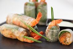 We would like to share with you a recipe for Empire Saigon Roll!  4x rice paper / 20 ml coconut milk / 4x shrimp tails / 10 g carrot / 10 g rice noodle / 2 g coriander / 2 g basil / 5 g peanuts   Put rice paper in water for few seconds. Put all ingredients in the middle of the rice paper. Wrap like a cigar. Enjoy your meal!