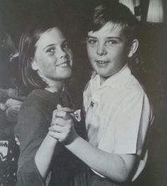 With his sister. So sweet.