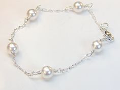 Add a Pearl Bracelet | Flower Girl and Bridesmaid Tin Cup Bracelet