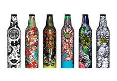 mountain-dew-artist-bottles Label Design, Packaging Design, Graphic Design, Graffiti Doodles, Drink Labels, Alternative Art, Mountain Dew, Bottle Art, Bottle Design