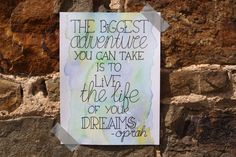 Handlettering inspiratie - Inspirerende quotes, the biggest adventure you can take, is to live the live of your dreams And So The Adventure Begins, Adventure Quotes, Dreaming Of You, Bullet Journal, Letters, Dreams, Live, Blog, To Draw