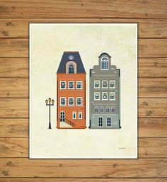 laminas casas laminas infantiles laminas por Ilustracionymas