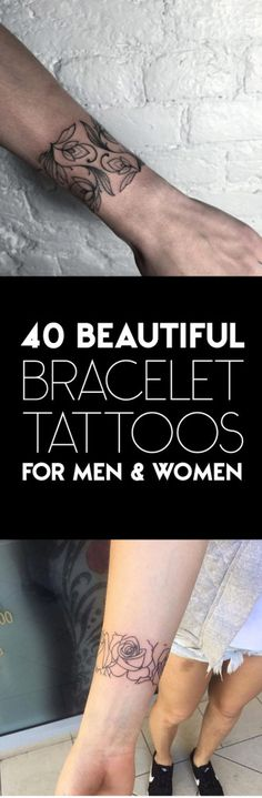 40 Beautiful Bracelet Tattoos for Men & Women | TattooBlend
