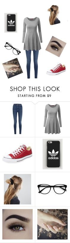 """""""Cute with friends outfit"""" by troach14 ❤ liked on Polyvore featuring J Brand, Doublju, Converse, ASOS, EyeBuyDirect.com and GUiSHEM"""