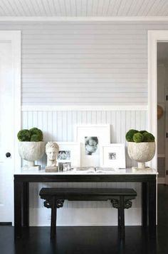 EBONY + IVORY - love the different directions the beadboard is hung