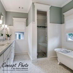 Bathroom Niche: Learn How To Choose And See Ideas With Photos - Home Fashion Trend Beadboard Wainscoting, Bathroom Wainscotting, Bathroom With Beadboard, Vinyl Beadboard, Bathroom Paneling, Craftsman Bathroom, Wainscoting Kits, Bead Board Walls, Bead Board Bathroom