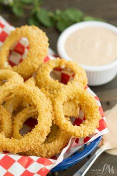 Oven Fried Onion Rings with Copycat Outback Blooming Onion  Mein Blog: Alles rund um Genuss & Geschmack  Kochen Backen Braten Vorspeisen Mains & Desserts!