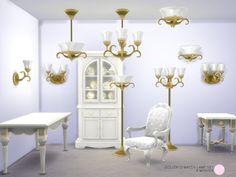 The Sims Resource: Dollop O Match Lamp Set by DOT • Sims 4 Downloads