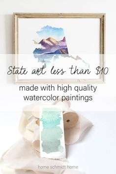 This watercolor Alaska state art is perfect for giving as a housewarming gift or hanging in your bedroom or living room for a personal touch in your home decor. This is a digital download, so you can print it as many times as you need and use over and over. #alaska #stateart #printables Watercolor Design, Watercolor Landscape, Watercolor Print, Personalized Wedding Gifts, Customized Gifts, Housewarming Gifts, Floral Wall Art, State Art, Printable Wall Art