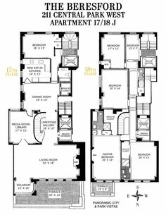 211 Central Park West #17/18J is a sale unit in Upper West Side, Manhattan priced at $17,110,800.