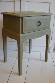 Lovestruck interiors. annie sloan chalk paint, natural wax, distressed, aged, hand painted furniture, bespoke, commission, shabby chic, pre loved, reloved, updated, upcycled, recycled, refurbished, stag minstrel, bedside table, bedside cabinet, versailles green