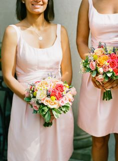 2014 Wedding Trends | Shades of Pink | Pink Wedding Inspiration | Soft Pink Bridesmaid Dresses
