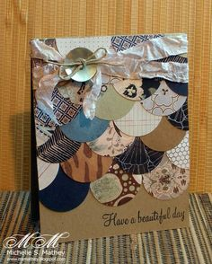scallop circles card - love!