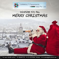 May the spirit of joy love and blessing fill your day this Christmas. Sankalp wishes you a joyful Christmas Day!!! #sankalpplacement #holidays #santaclaus #christmas