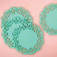 Doily Coasters Turquoise 12 Pack now featured on Fab.