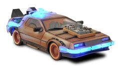 Wow! A Back to the Future III DeLorean toy...complete with light effects! Very cool.