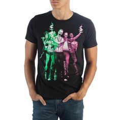 Suicide Squad Purple Green Group T-Shirt-Wickydeez