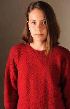 Tricoter un pull de marin: le pull brocart - Marie Claire