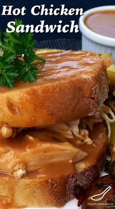 Hot Chicken Sandwich Recipe - A Classic Canadian recipe inspired by Swiss Chalet