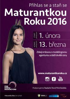 Plakát k prvnímu kolu celorepublikové soutěže Maturantka Roku.